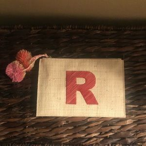 """R"" monogrammed clutch"